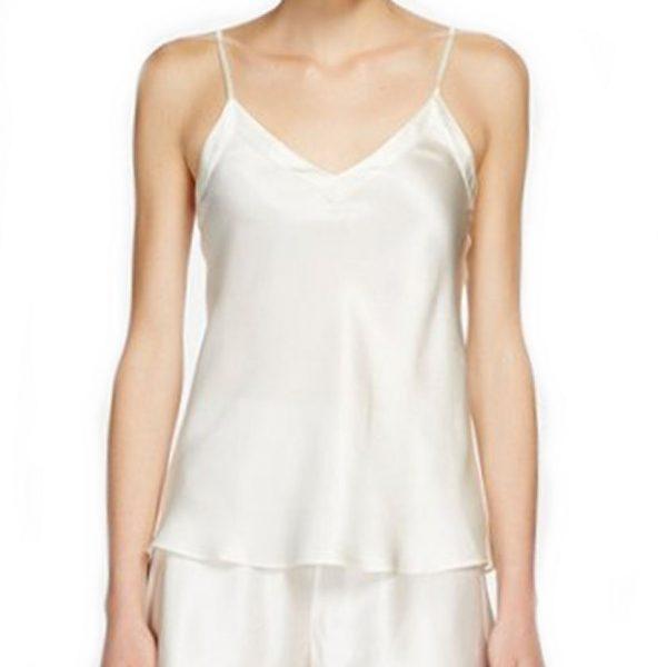 4a5762b08065fa Ginia Silk V-Neck Camisole - Silk Elegance Lingerie
