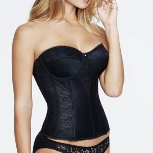 Dominique Lace Torsolette -Black
