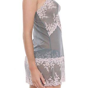 Embrace Lace Chemise -Frost Grey