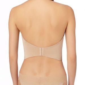 Soiree Low Back Bustier -Nude