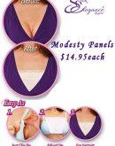 Modesty Panels -Lace Trim